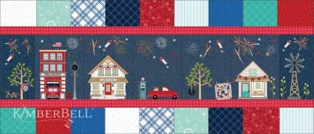 Main Street Celebration Bench Pillow Kit (Fabric Only Including Backing) - Kimberbell Designs
