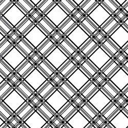 Kimberbell Basics : Diagonal Plaid Black - #MAS8244-J