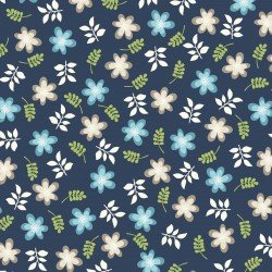 Make Yourself at Home : Friendly Flowers Navy - #MAS9392-N - By Kim Christopherson - Kimberbell