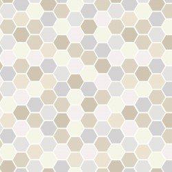 Make Yourself at Home : Mini Hexagons Taupe/Gray - #MAS9398-TK - By Kim Christopherson - Kimberbell
