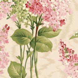 Sensibility : Lilacs on Moire Natural - #MAS9630-E