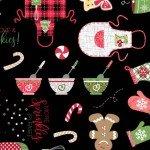 We Whisk You a Merry Christmas! : Christmas Baking Black- #MAS9670-J - Kimberbell Designs