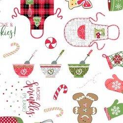 We Whisk You a Merry Christmas! : Christmas Baking Ultra White- #MAS9670-UW - Kimberbell Designs