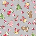We Whisk You a Merry Christmas! : Christmas Cookies Gray - #MAS9671-K - Kimberbell Designs