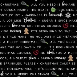 We Whisk You a Merry Christmas! : Holiday Baking Phrases Black - #MAS9672-J - Kimberbell Designs