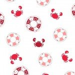 Vintage Boardwalk : Preservers & Crabs Ultra White/Red - #MAS9713-UW - Kimberbell Designs