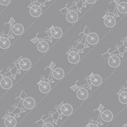 Vintage Boardwalk : Diagonal Bikes Gray - #MAS9716-K - Kimberbell Designs