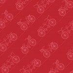 Vintage Boardwalk : Diagonal Bikes Red - #MAS9716-R - Kimberbell Designs