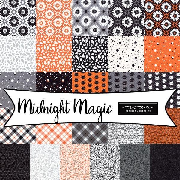 Midnight Magic : Fatty Cake - (26) 10x1/2WOF - April Rosenthal of Prairie Grass Patterns
