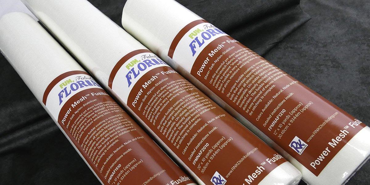 Power Mesh Fusible Cutaway : Natural Sheer Soft Nylon Stabilizer - 15 x 10yrds - Floriani