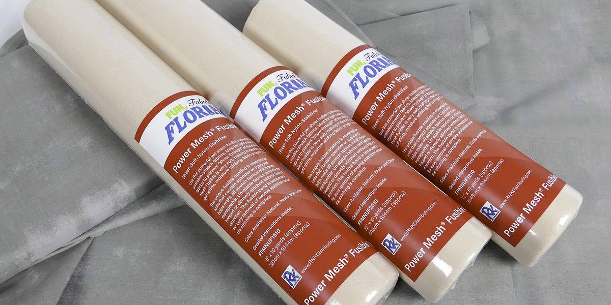 Power Mesh Cutaway : Nude Sheer Soft Nylon Stabilizer - 15 x 10yrds - Floriani