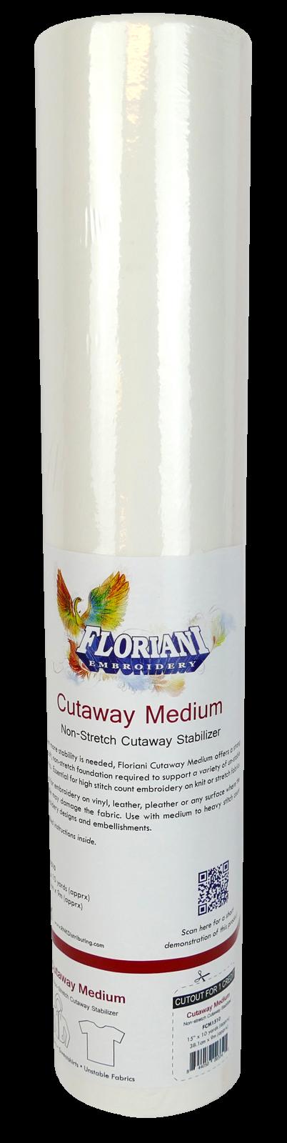 Cutaway Medium Stabilizer - 15 x 10 yards - Floriani