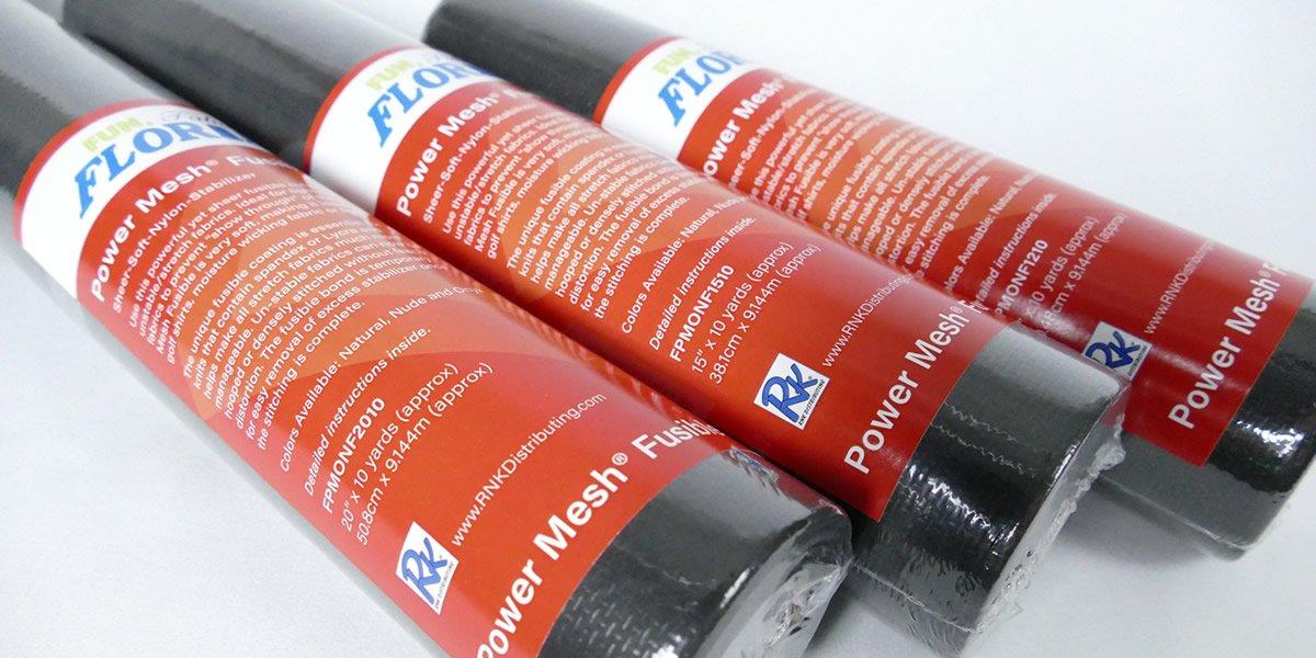 Power Mesh Fusible Cutaway : Onyx Sheer Soft Nylon Stabilizer - 12 x 10yrds - Floriani