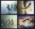 Fish & Fowl : Fish Pillow Panel - 36 x 43 - P8724-FISHPILLOW
