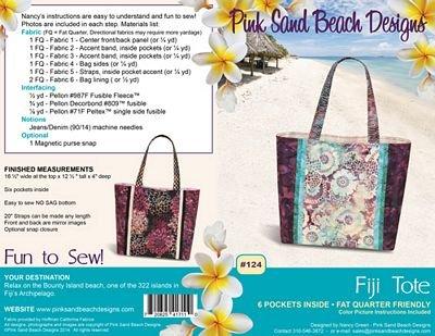 Fiji Tote Pattern - Pink Sand Beach Designs