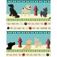 Dog Wisdom - #1401-14608-243 - Border Print - By Jo Moulton