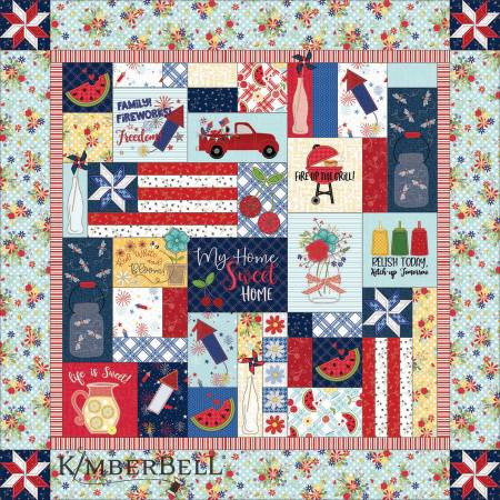 Red, White, & Bloom Quilt Fabric Kit - Kimberbell Designs