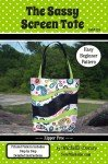 The Sassy Screen Tote Pattern - By Michelle Dorsey