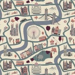 London Town : London Forever Blue Unbleached - #SY100-BL2U - Sara Mulvanny