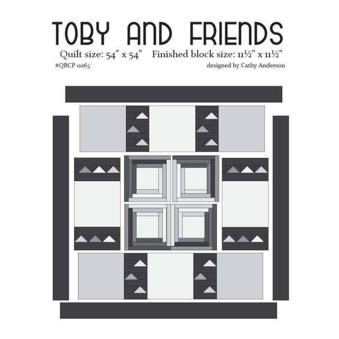 Toby & Friends - Cutie Pattern - Quilt Basket