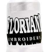 Pure White - #LGPF0800 - 5,000m 40wt Polyester Embroidery Thread - Floriani