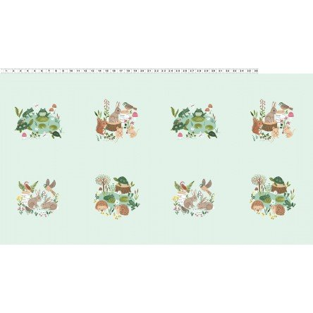 Woodland Wander - #Y2589-109 Light Mint - By Rebecca Jones