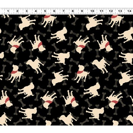 Wigglebutts : Dogs & Bones Black - #Y2840-3 - By Dan DiPaolo
