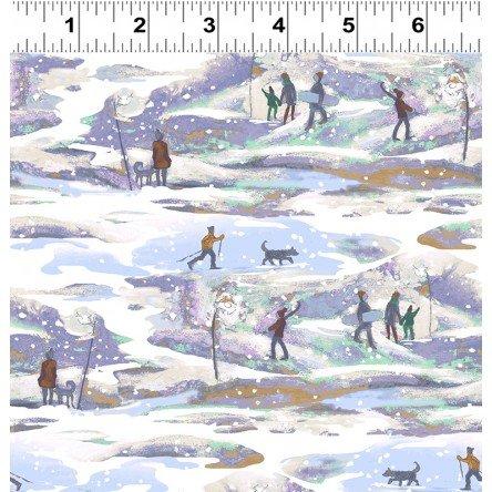 Ski Town : Snowy Walk Periwinkle - #Y2996-85 - Karen Gillis Taylor