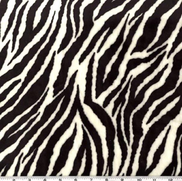 Cuddle Prints :  Zebra Black/Snow - 58/60 - #ZEBRA-Black/Snow