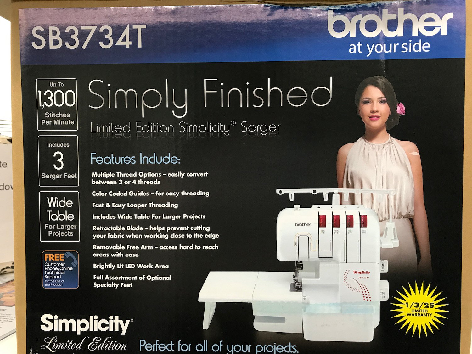 Simply Finished Serger SB3734T