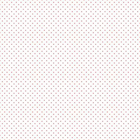 Coral Swiss Dot on White