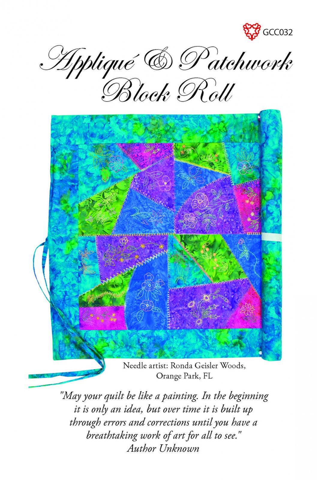 GCC Applique & Patchwork Block Roll