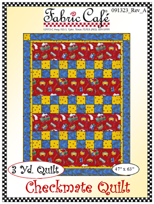 Checkmate 3 yd Quilt Pattern