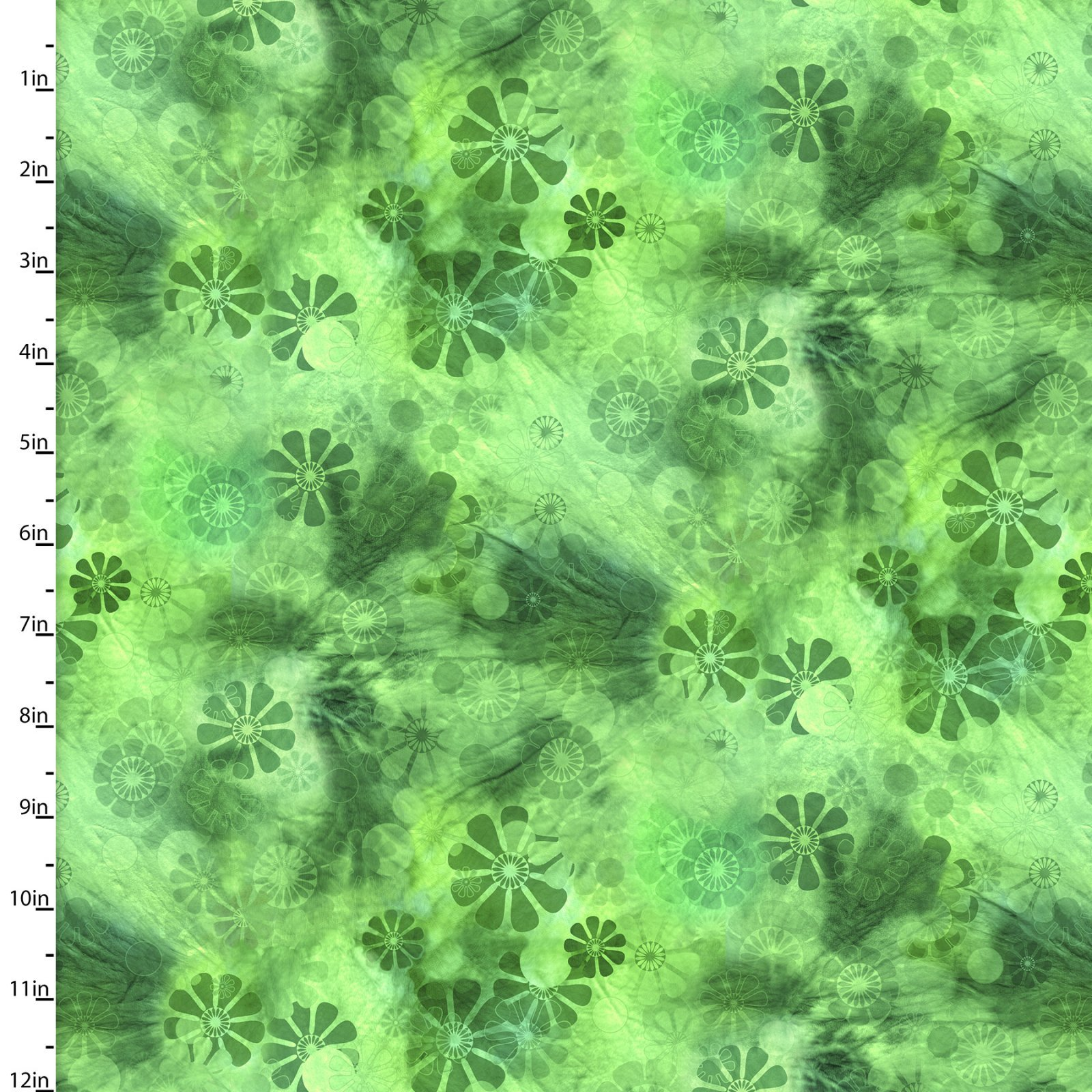 Good Dogs - Green Tonal Floral