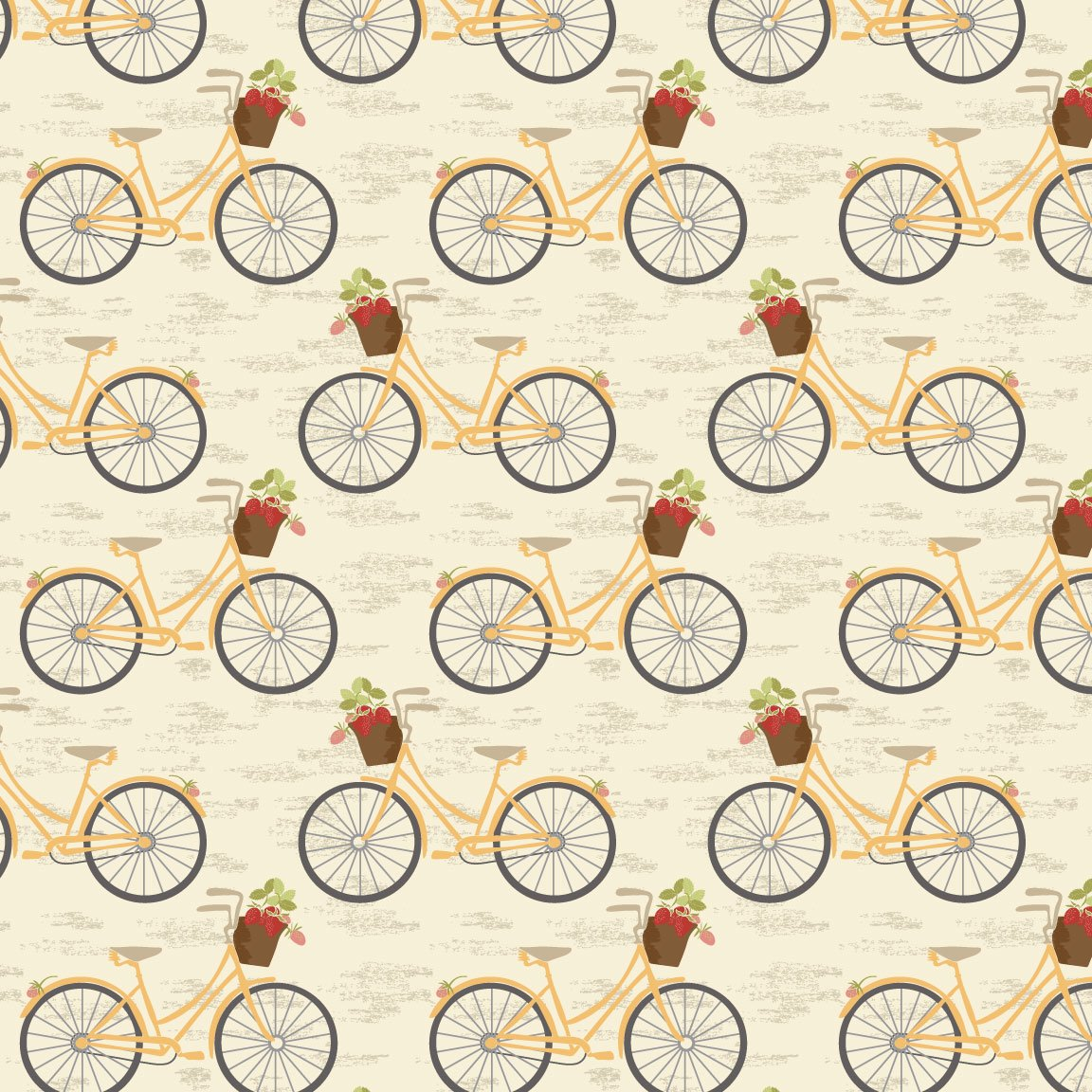 Vintage Berries - Bicycles Cream
