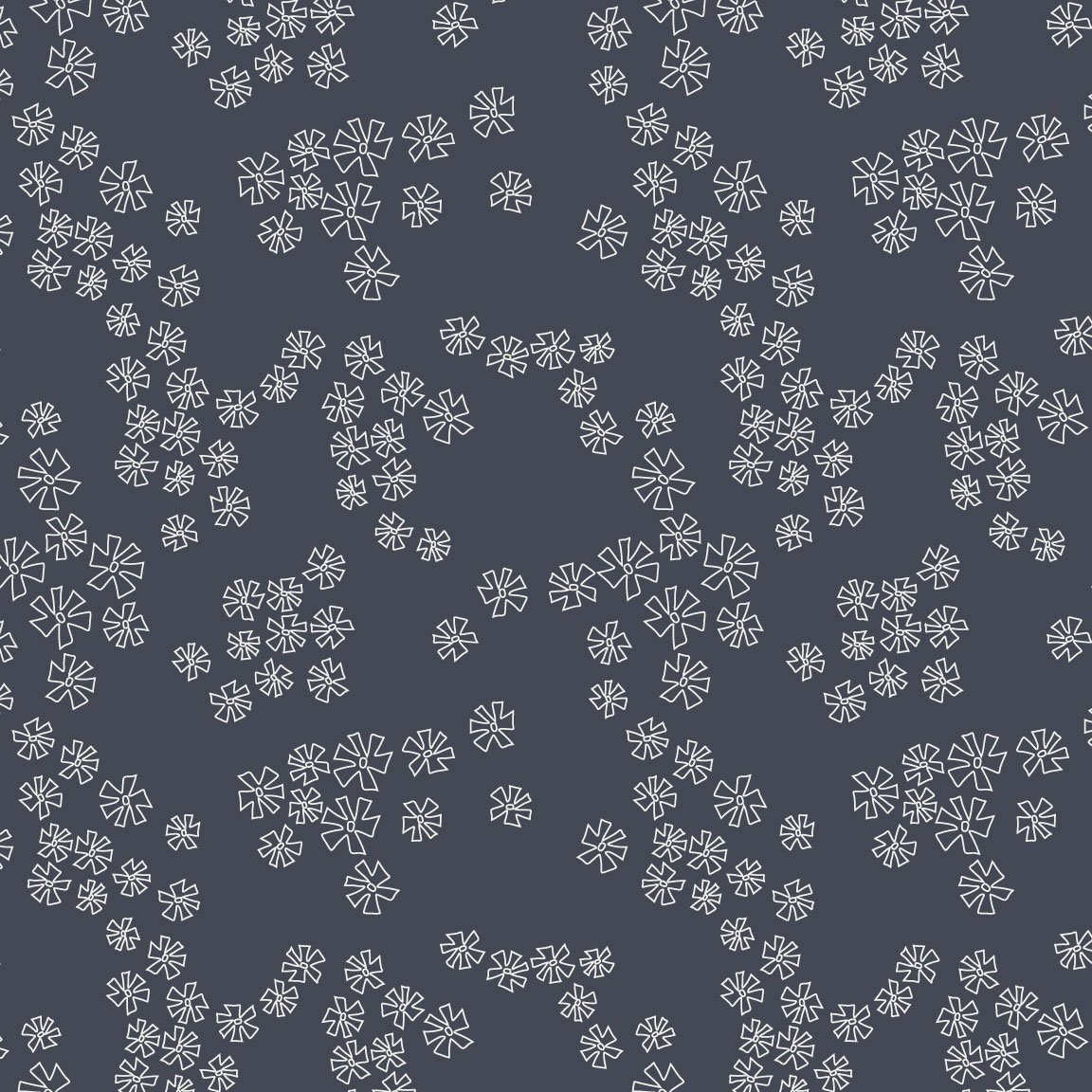 Summer Breeze Navy Falling Flowers