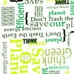 Canvas Save the Planet WORDS
