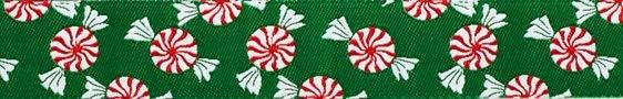 Green Peppermints Ribbon