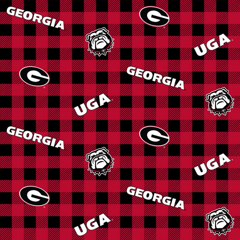 Georgia Bulldogs Buffalo Plaid