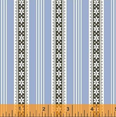 BB - Modern Country Floral Stripe