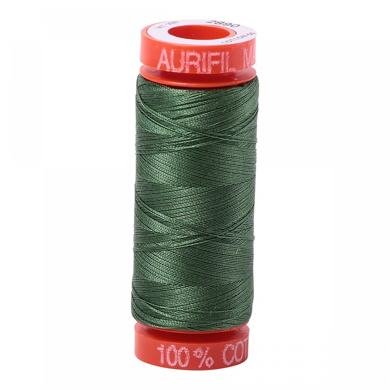 50 wt Aurifil - AS2890 - Dark Grass Green