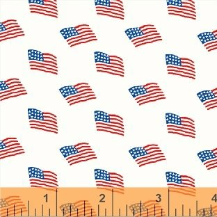 Storybook Americana White Flags