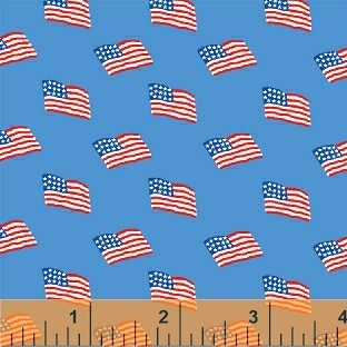 Storybook Americana Blue Flags