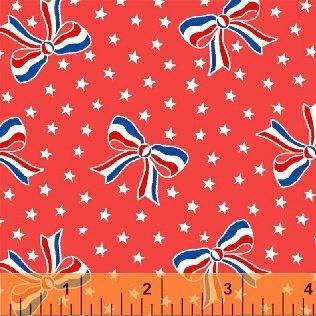 Storybook Americana USA Bows Red