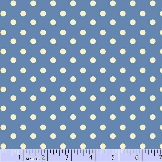 Aunt Grace's Dots Blue