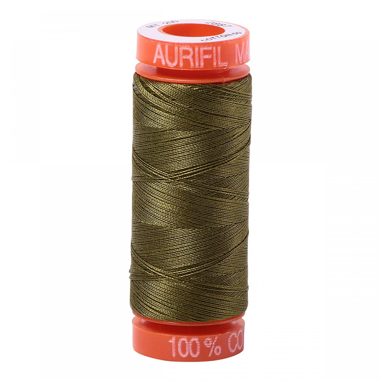 50 wt Aurifil - AS2887 - Dark Olive*
