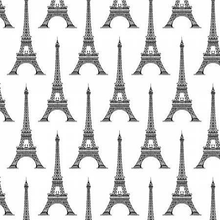 Love from Paris - Eiffel Tower White