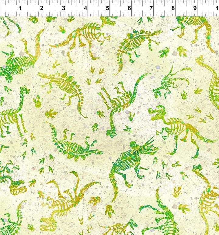 Dinosaur Friends Fossils Green