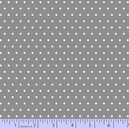 Grumpy Gray/White Dot Flannel