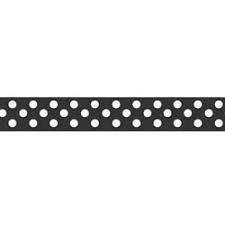 3/8 B & W Dots Ribbon